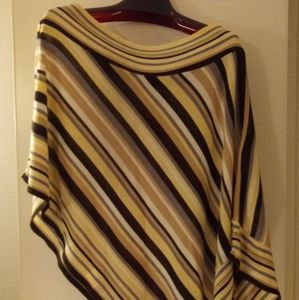 Coolwear Multi-Colored One Shoulder Poncho